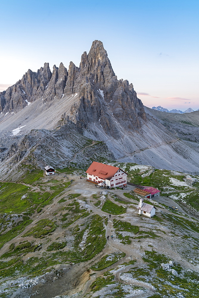 Dreizinnen hut by Mount Paterno in Italy, Europe - 1251-464