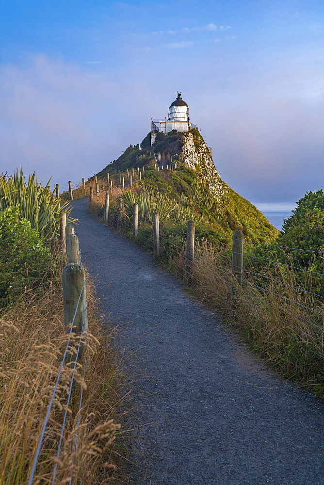 Nugget Point lighthouse, Ahuriri Flat, Clutha district, Otago region, South Island, New Zealand, Pacific