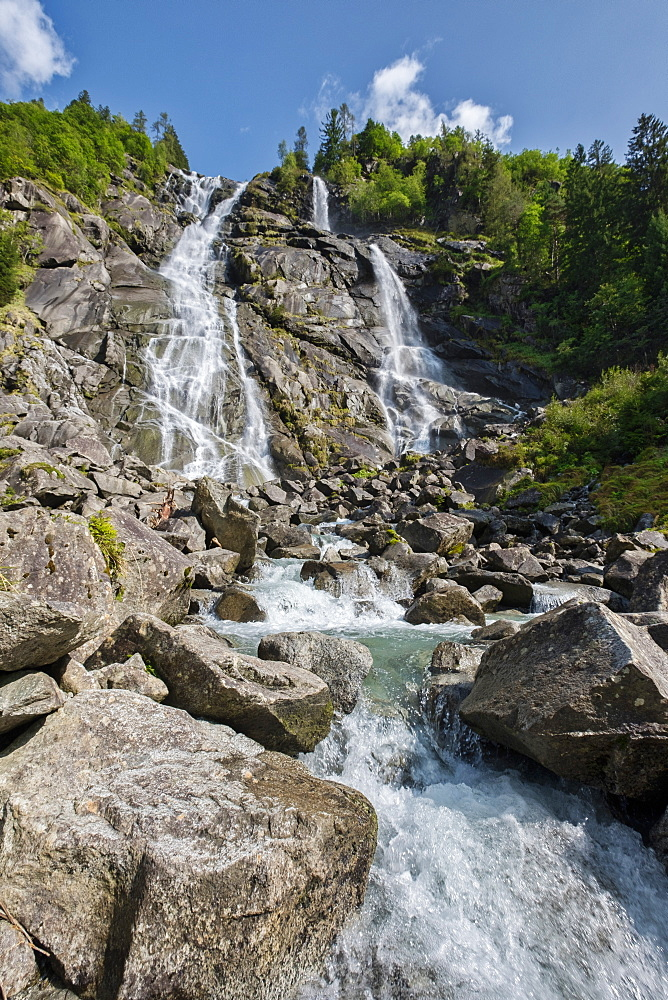Italy, Trentino, Genova Valley, Nardis waterfalls
