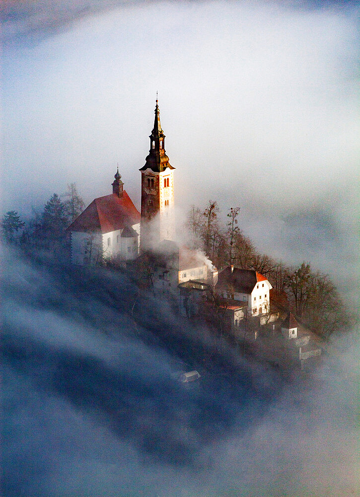 Lake Bled in the Julian Alps of the Upper Carniolan region of northwestern Slovenia - 1265-148