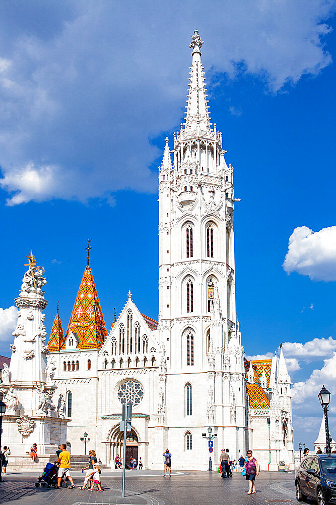 The Church of the Assumption of the Buda Castle or Matthias Church located in the Holy Trinity Square, Budapest, Hungary. - 1265-163