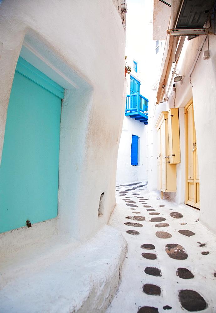 Streets of Mykonos, Cyclades, Greek Islands, Greece, Europe - 1265-60