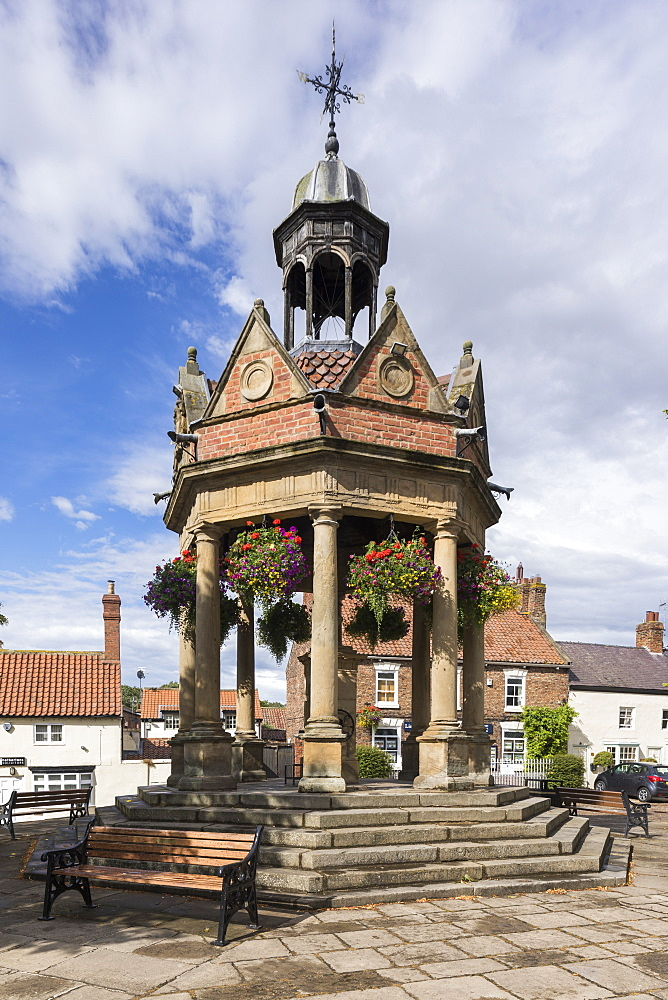 Band stand in the village of Boroughbridge, North Yorkshire, UK - 1266-149