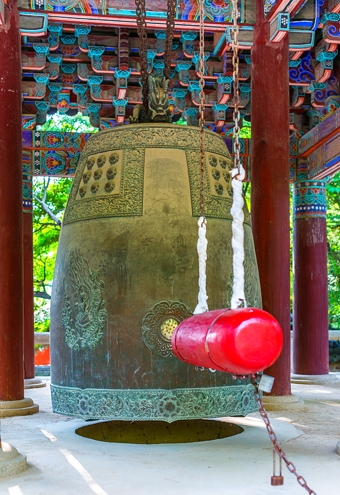 Bulguksa Buddhist temple bell - Gyeongju, South Korea.