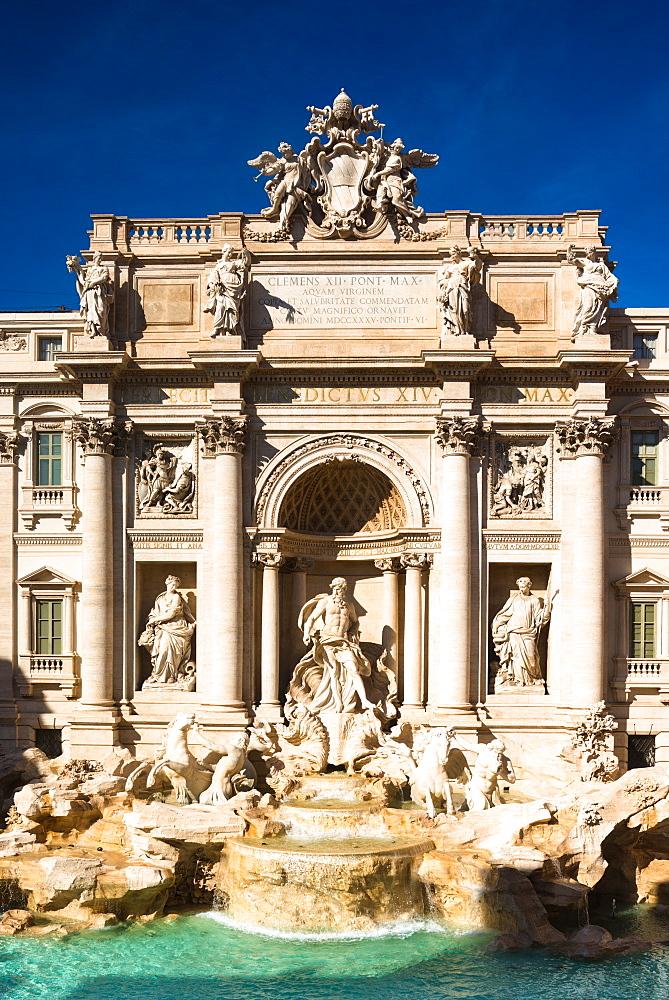 Trevi Fountain (Fontana di Trevi), Rome, Lazio, Italy, Europe - 1267-271