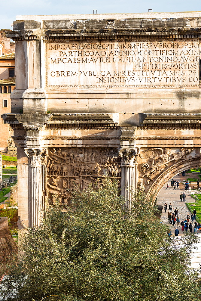 Arch of Septimus Severus in the Roman Forum, UNESCO World Heritage Site, Rome, Lazio, Italy, Europe - 1267-319
