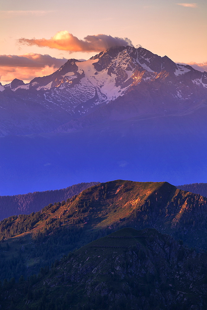 Mount Disgrazia at sunset, Valgerola, Orobie Alps, Valtellina, Lombardy, Italy, Europe - 1269-480