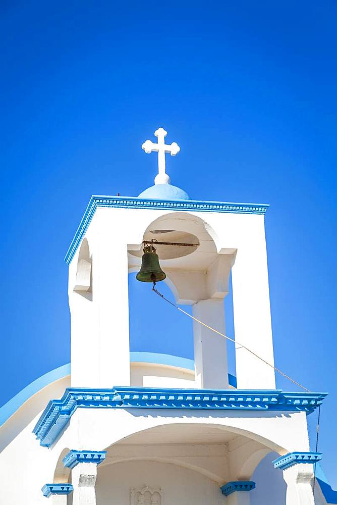 Ekklisia Agios Spiridon church near Seitan Limania beach, Crete, Greek Islands, Greece, Europe