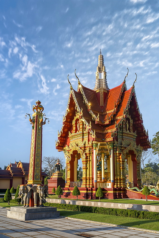 Wat Mahathat Watchiramongkhon or Wat Bang Thong in Krabi, Thailand, South East Asia