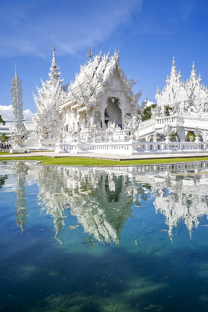 Wat Rong Khun (White Temple), Chiang Rai, Northern Thailand, Thailand, Southeast Asia, Asia