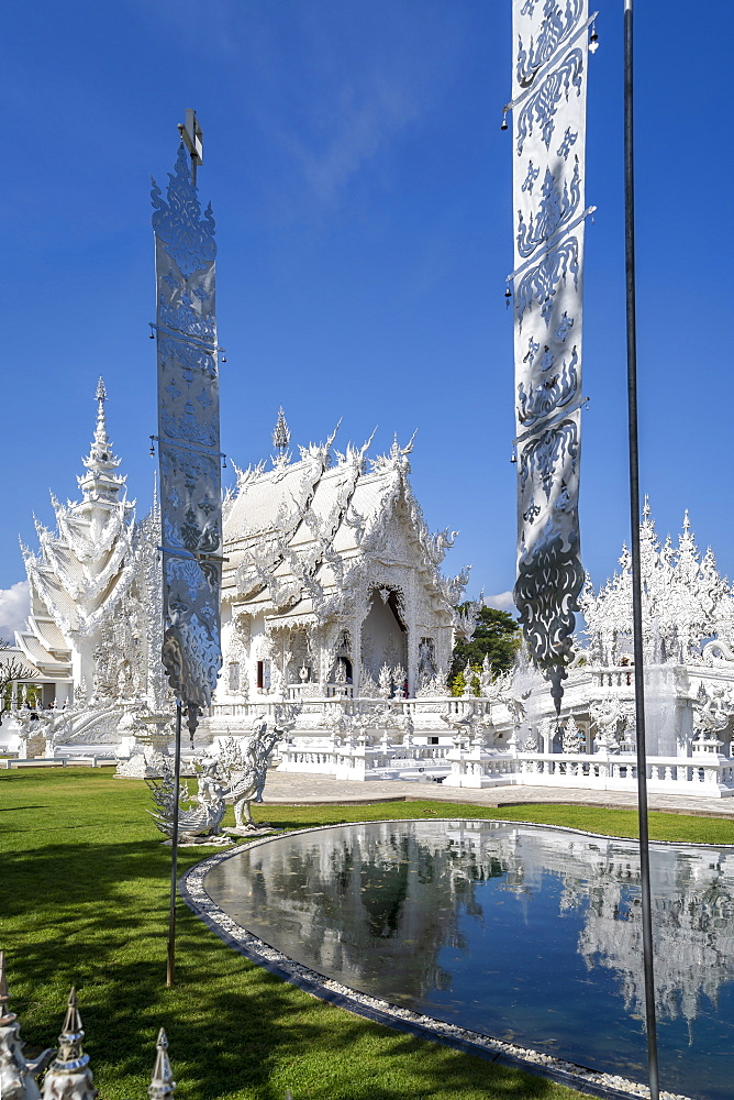Wat Rong Khun (White Temple), Chiang Rai, Northern Thailand, Thailand, Southeast Asia, Asia - 1276-2261