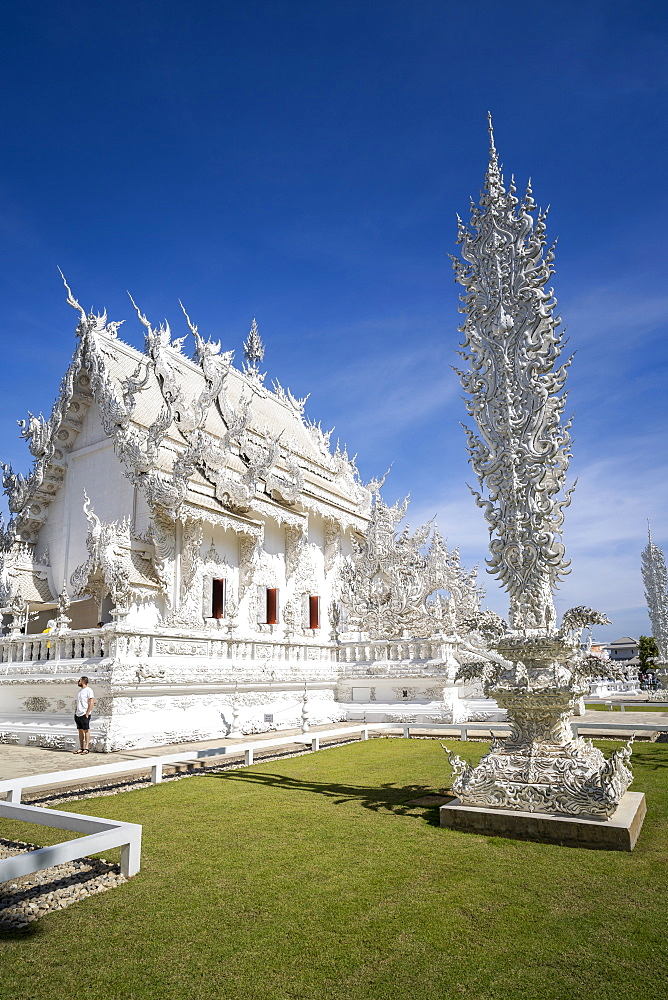 Wat Rong Khun (White Temple), Chiang Rai, Northern Thailand, Thailand, Southeast Asia, Asia - 1276-2263