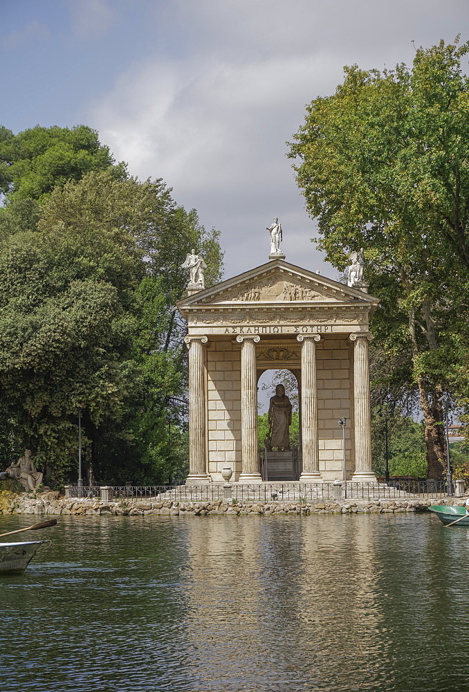 Temple of Asclepius inside the Villa Borghese gardens, Rome, Lazio, Italy, Europe - 1278-3