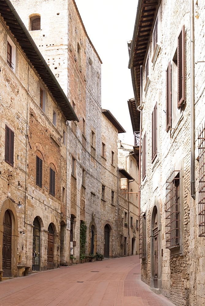 A street in San Gimignano, UNESCO World Heritage Site, Tuscany, Italy, Europe - 1284-132