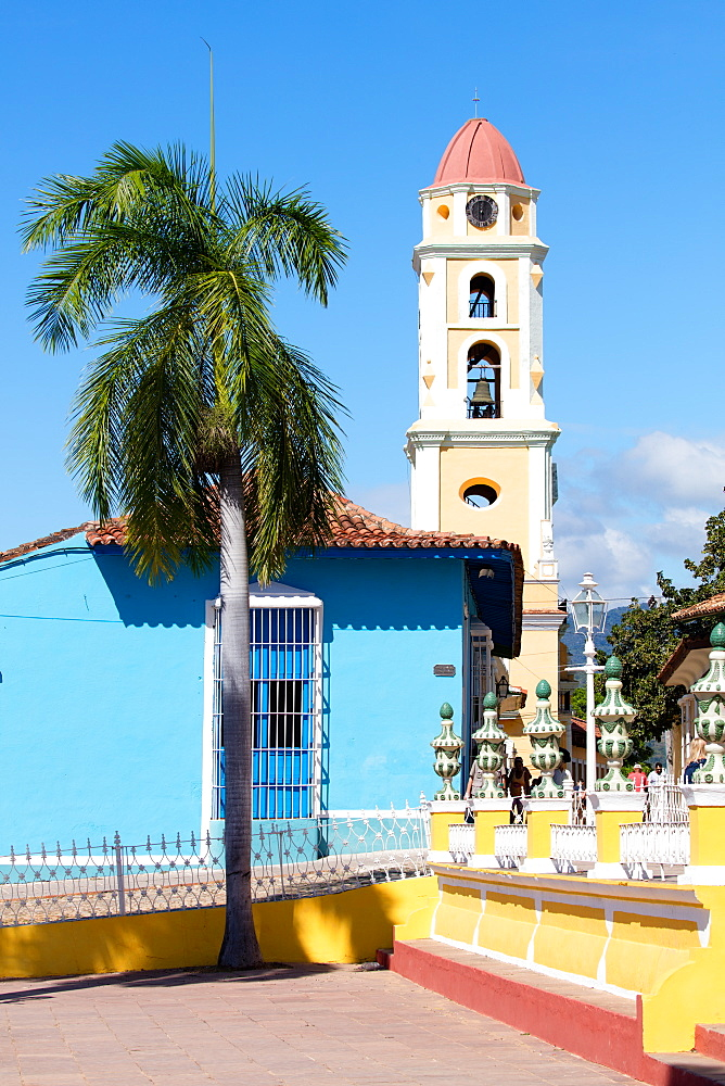 View of the bell tower in Trinidad, UNESCO World Heritage Site, Sancti Spiritus, Cuba, West Indies, Caribbean, Central America