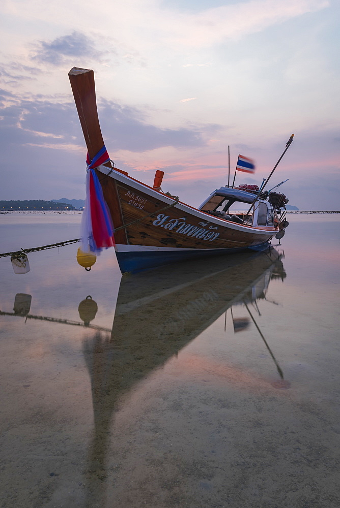 Long-tail boat on Rawai Beach, Phuket, Thailand, Southeast Asia, Asia - 1286-79