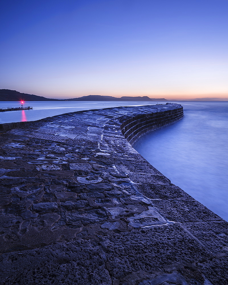 The harbour wall known as The Cobb in Lyme Regis, Dorset, UK - 1295-174
