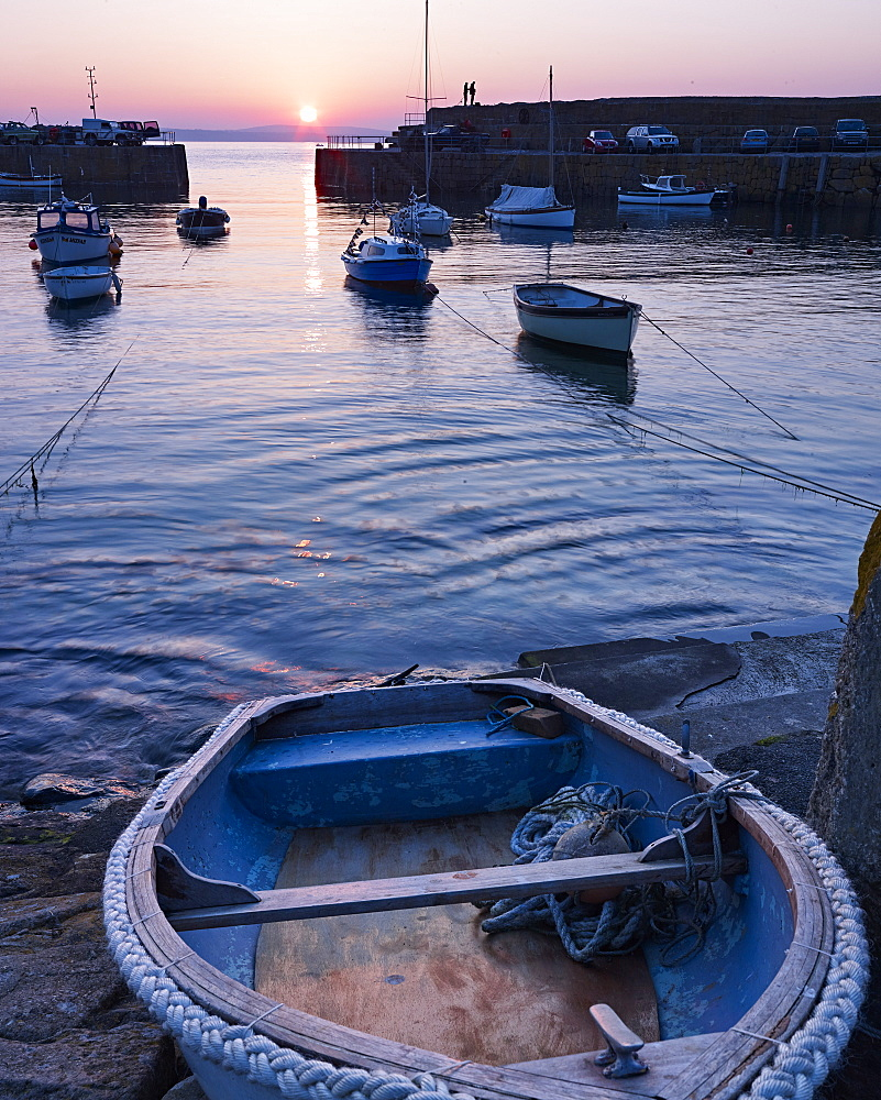 The picturesque fishing village of Mousehole, Cornwall, England, United Kingdom, Europe - 1295-289