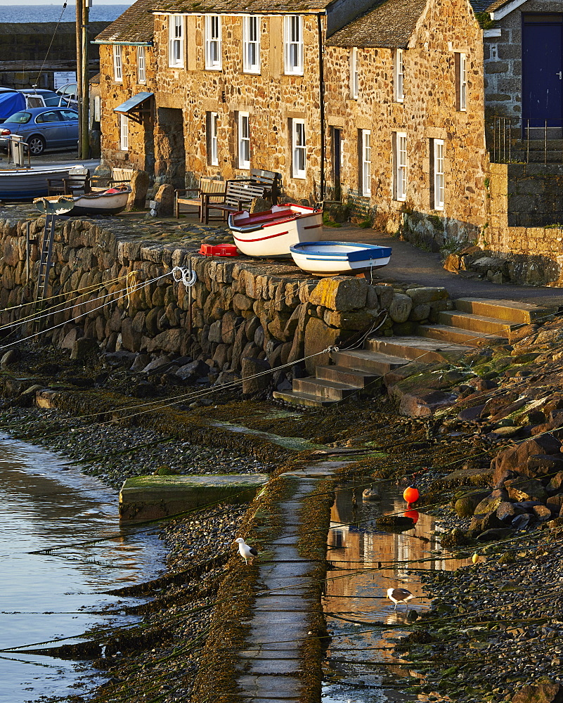 The picturesque fishing village of Mousehole, Cornwall, England, United Kingdom, Europe - 1295-291