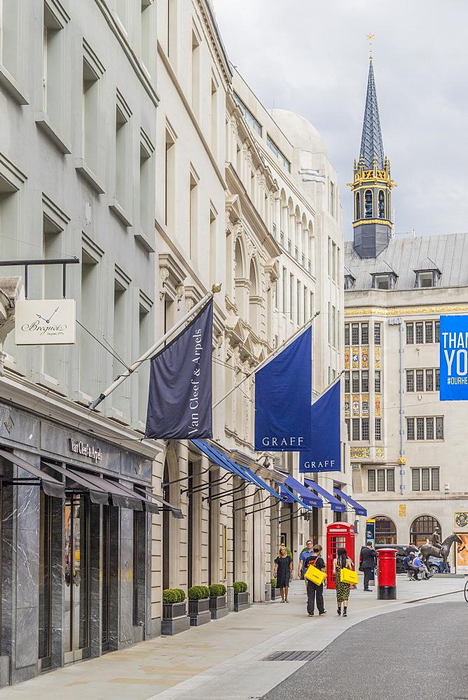 Old Bond Street, Mayfair, London, England, United Kingdom, Europe