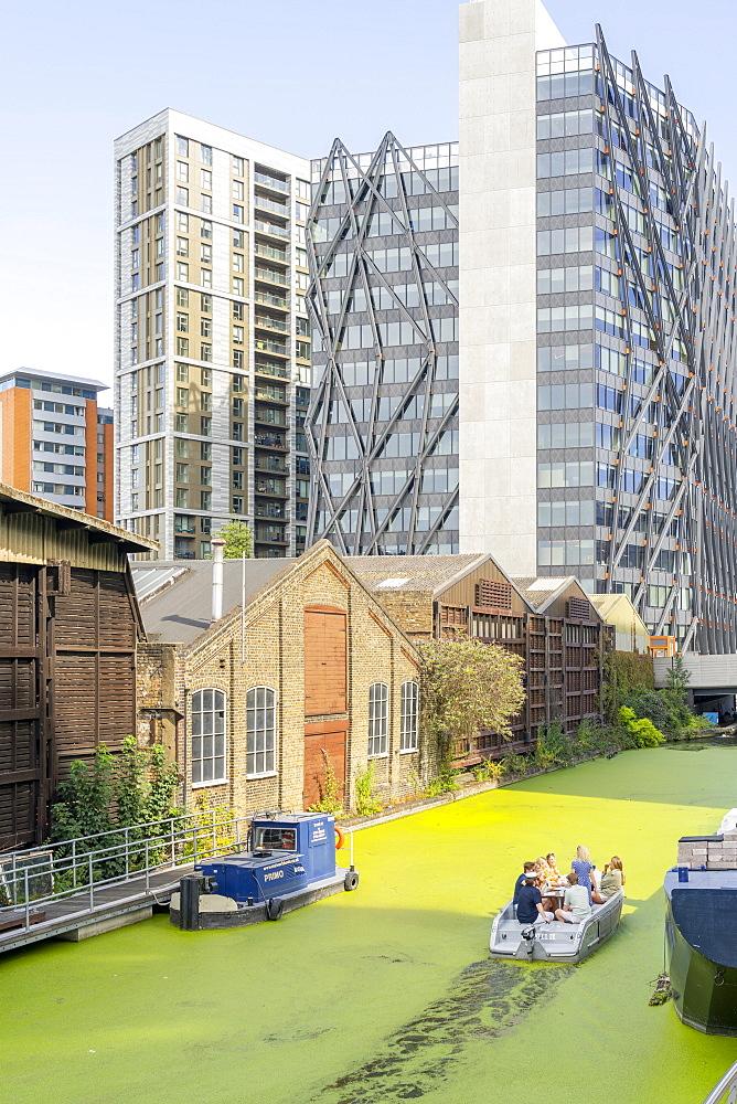 Regents Canal, Paddington Central, London, England, United Kingdom, Europe - 1297-1221