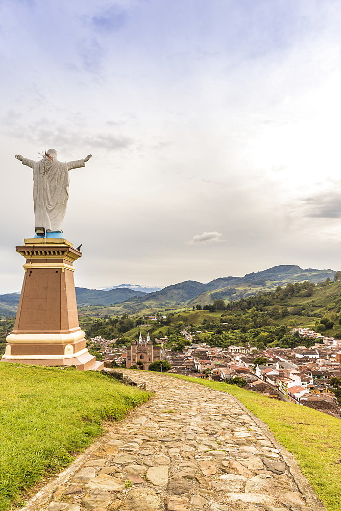 The view from Christ Statue hill - Morro El Salvador - in Jerico, Antioquia Colombia, South America.