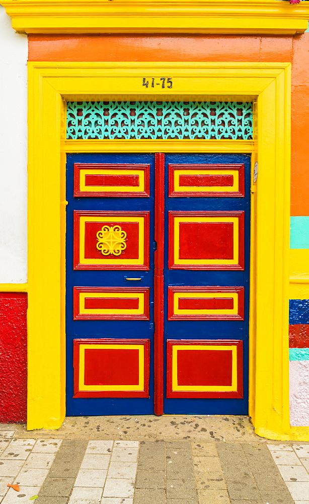 Colourful architecture in Medellin, Colombia, South America.