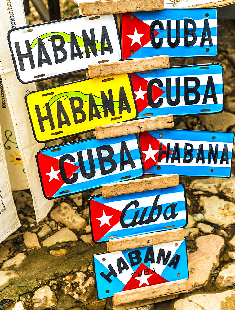 Tourist souvenirs for sale in Havana, Cuba.