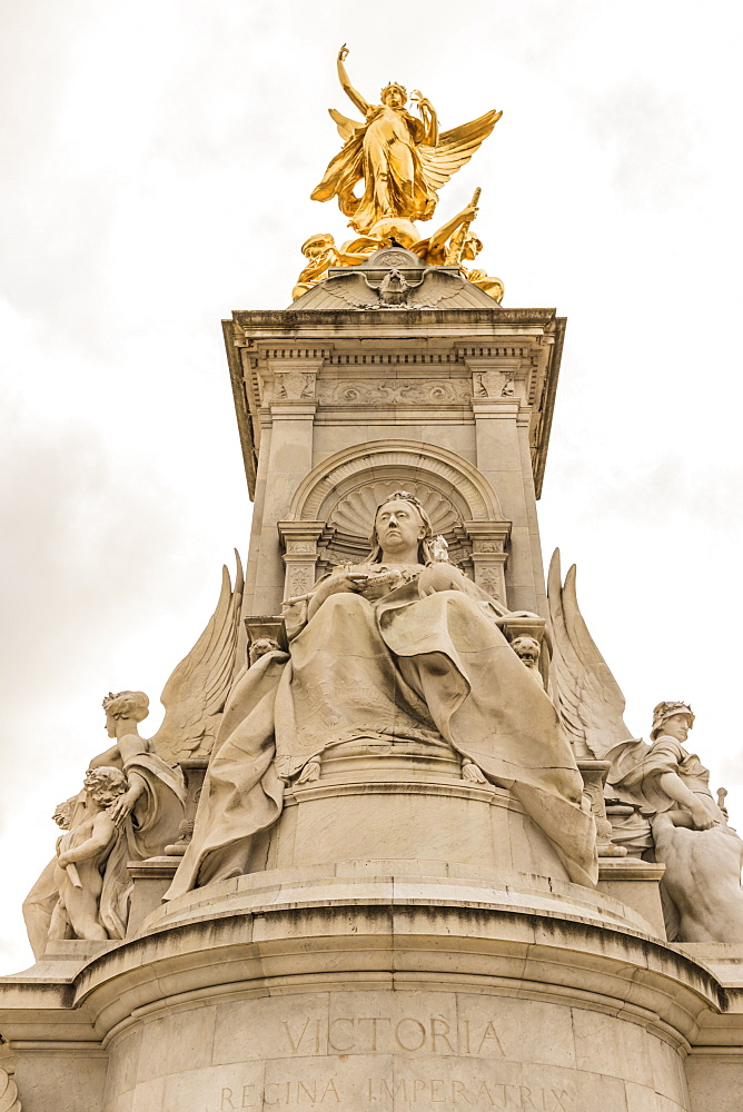 The Queen Victoria Memorial at Buckingham Palace, London, England, United Kingdom, Europe - 1297-416