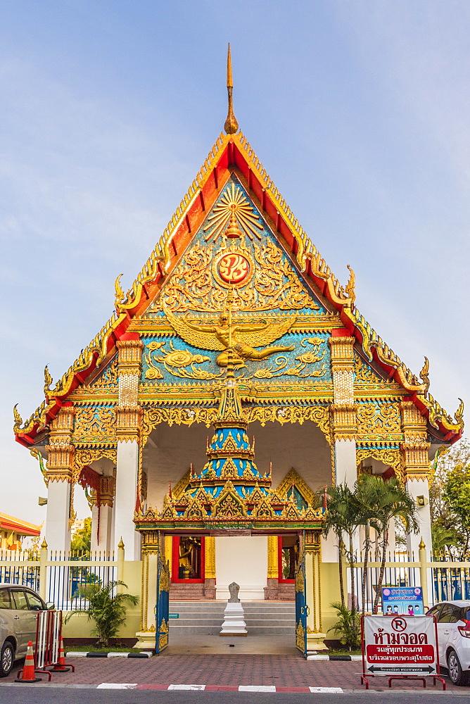 Mongkol Nimit temple (Wat) in Phuket old town, Phuket, Thailand, Southeast Asia, Asia