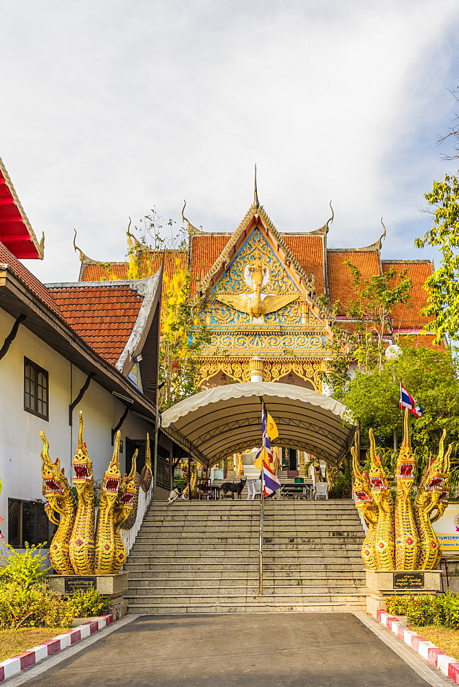 Colourful architecture at the Office of national Buddhism, in Phuket Town, Phuket, Thailand, Southeast Asia, Asia