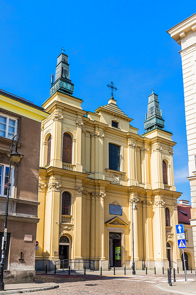 Church of St Francis in the New town in Warsaw, Poland, Europe.