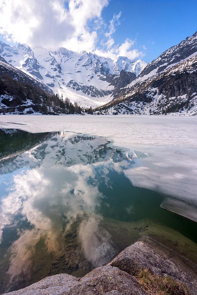 Aviolo Lake in Adamello Park, Vezza d'Oglio, Brescia province, Lombardy, Italy, Europe - 1299-27