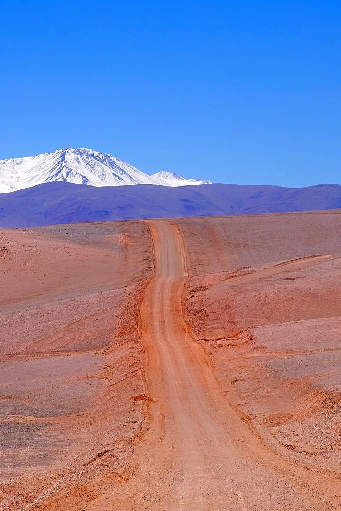 Andes landscape and the road leading to Paso Pircas Negras mountain pass, Argentina to Chile, La Rioja, South America - 1301-35