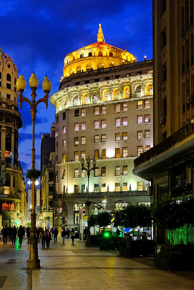 Florida Street, spanish Calle Florida, by night, a pedestrian shopping street downtown Buenos Aires, Argentina, South America - 1301-55
