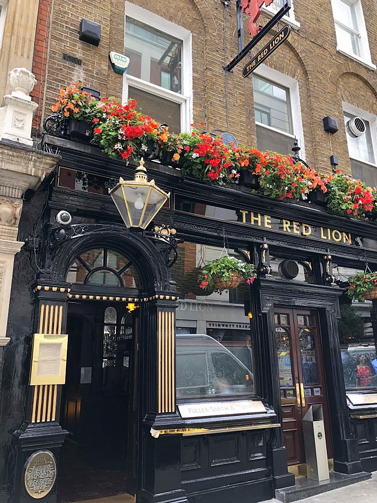 Red Lion public house, Duke of York Street. Last original gin palace left in London