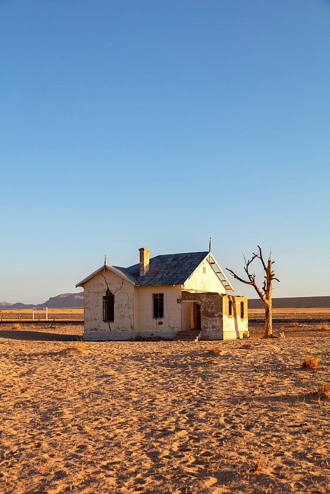 Abandoned and disused Railway Station based in Luderitz within the Diamond Region, Namibia, Africa