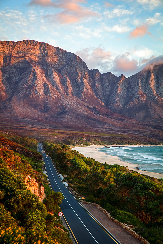 Shot of Kogel Bay at sunset, Cape Town, South Africa, Africa - 1304-55