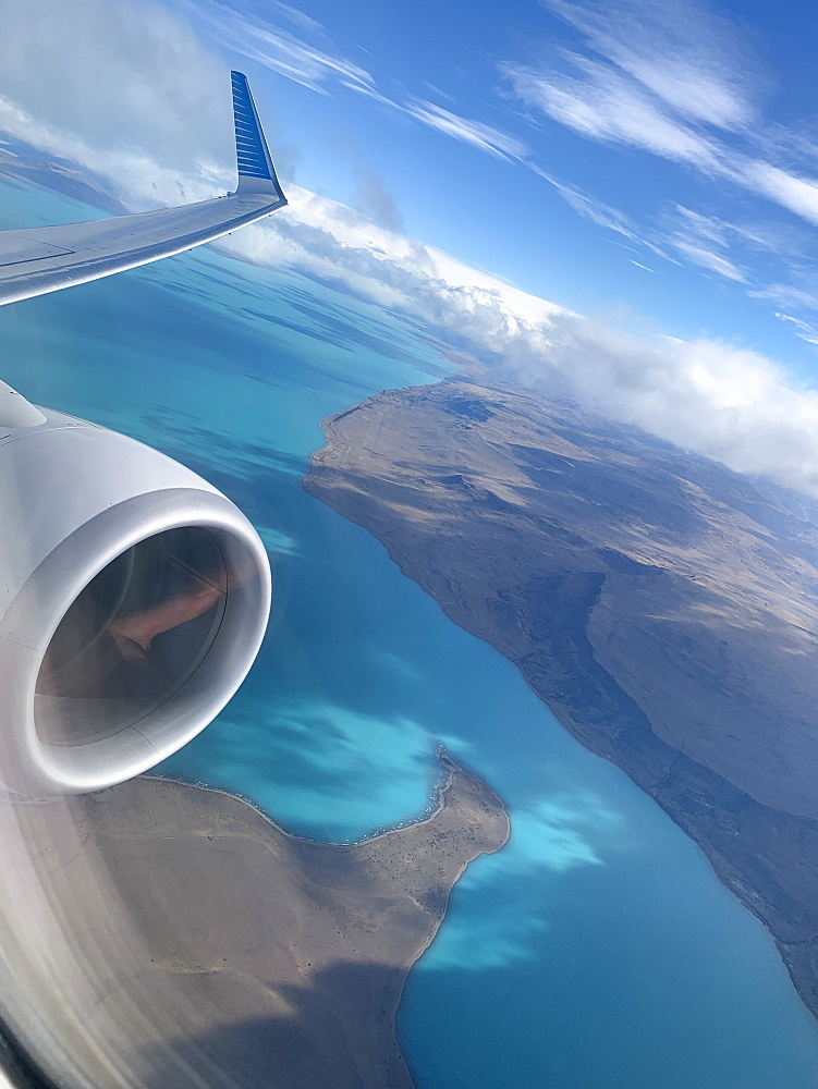 Flying over Lake Argentina in El Calafate, Patagonia, Argentina, South America - 1306-236