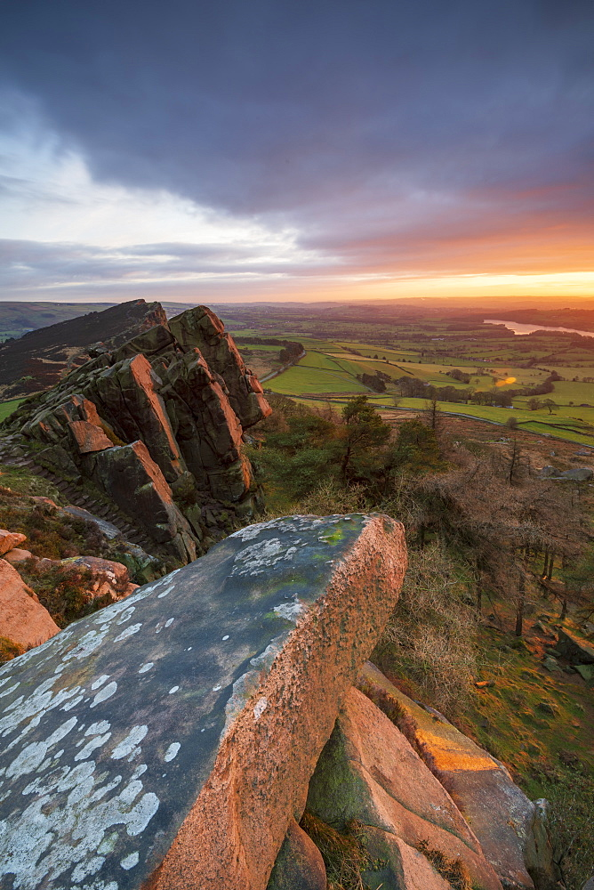 Gritstone formations at The Roaches, Peak District National Park, Staffordshire, England, United Kingdom, Europe