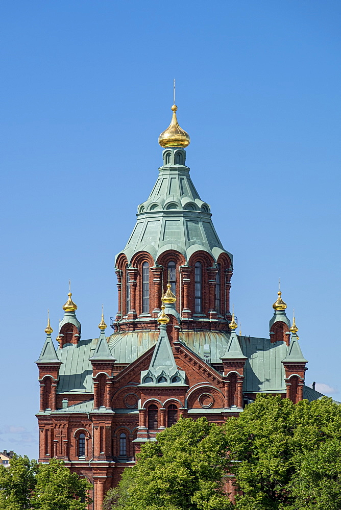 Roof detail of Uspenski Cathedral, Helsinki, Scandinavia, Europe