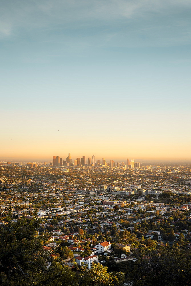 The Los Angeles City skyline taken from the Griffith Observatory - 1312-8