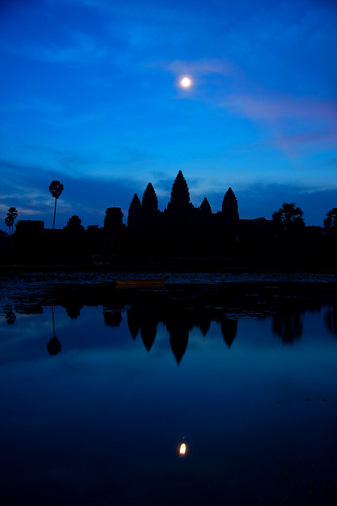 Angkor archeological complex, UNESCO Heritage Site, Siem Reap, Cambodia before dawn