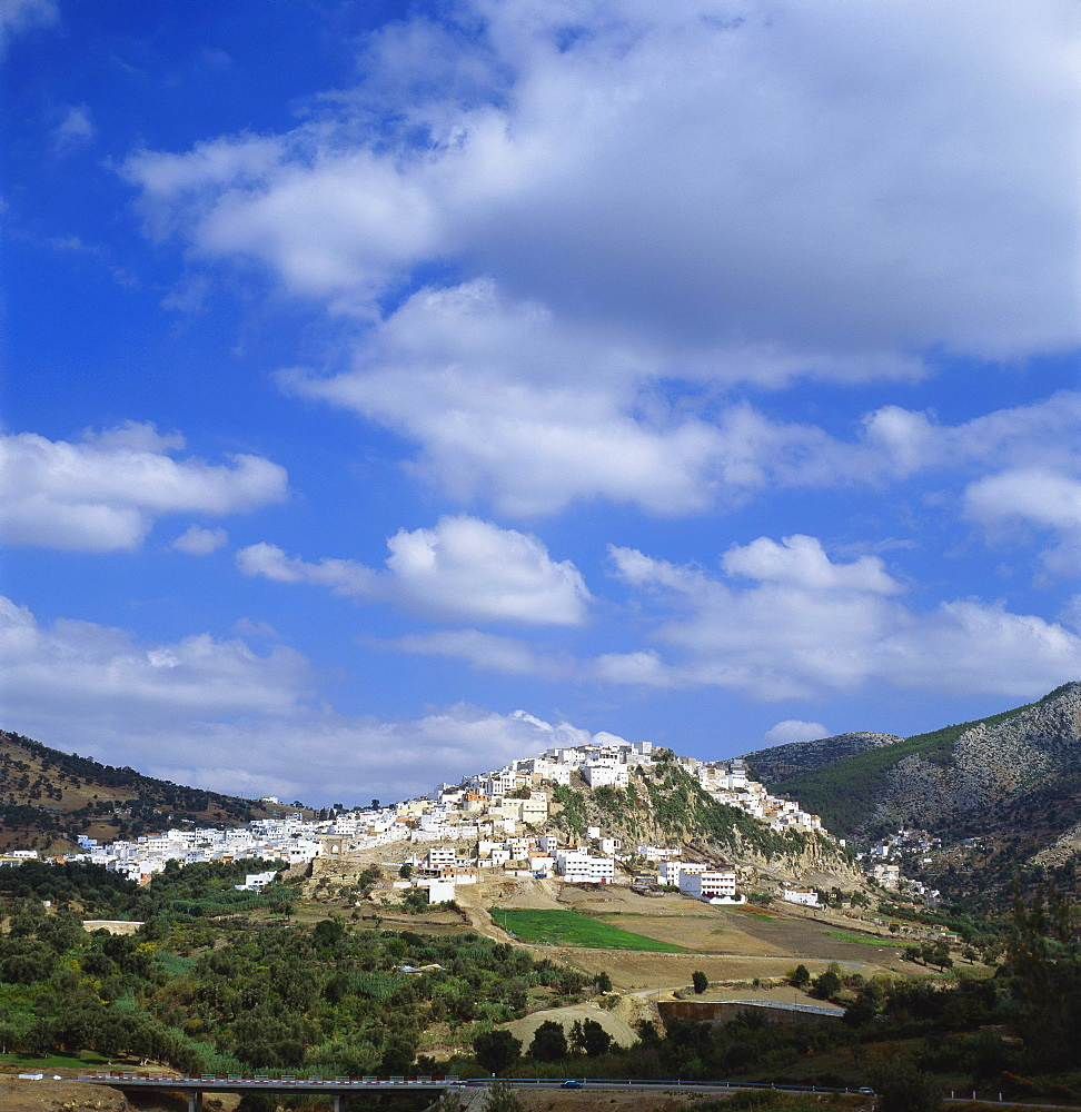 Distant View of Moulay Idriss, Morocco - 136-1182