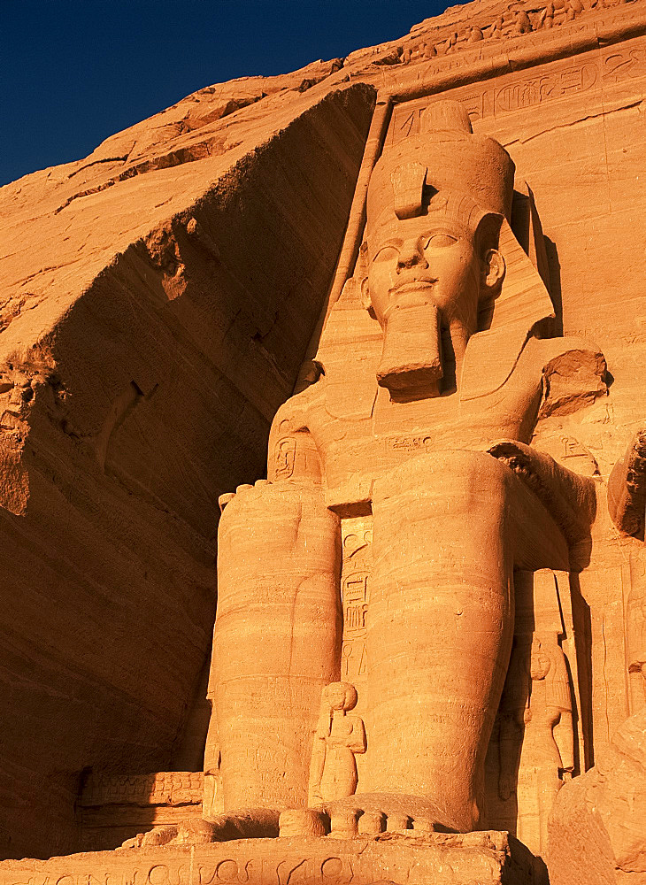 Statue of Ramses II, Abu Simbel, UNESCO World Heritage Site, Nubia, Egypt, North Africa, AFrica