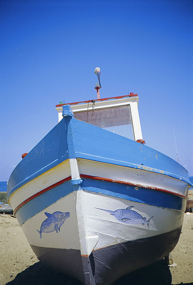 Fishing boat, Aspra, Sicily, Italy, Europe