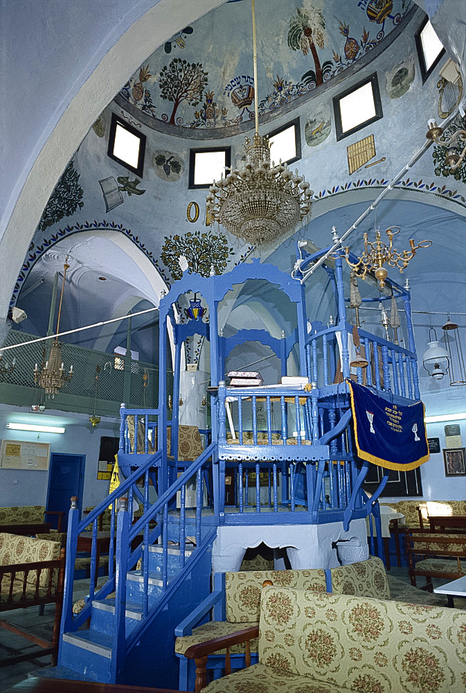 Interior of the church of St. Artemios at Karavostasis on Folegandros, Cyclades Islands, Greek Islands, Greece, Europe
