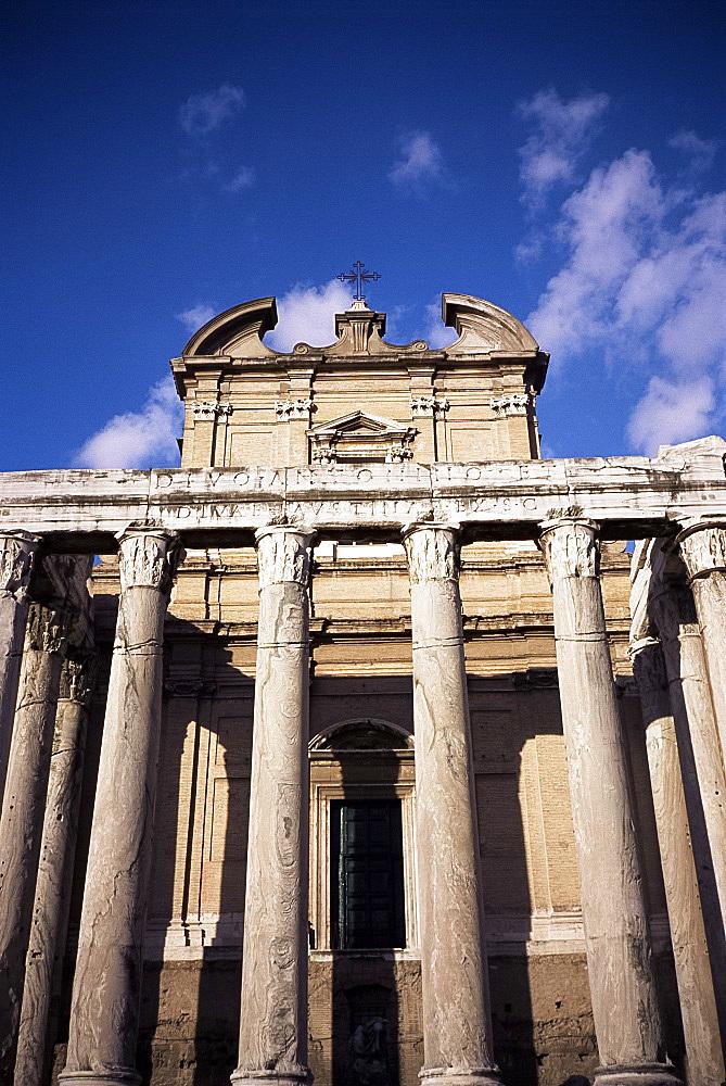 Temple of Antonius and Faustina, Roman Forum, Rome, Lazio, Italy, Europe