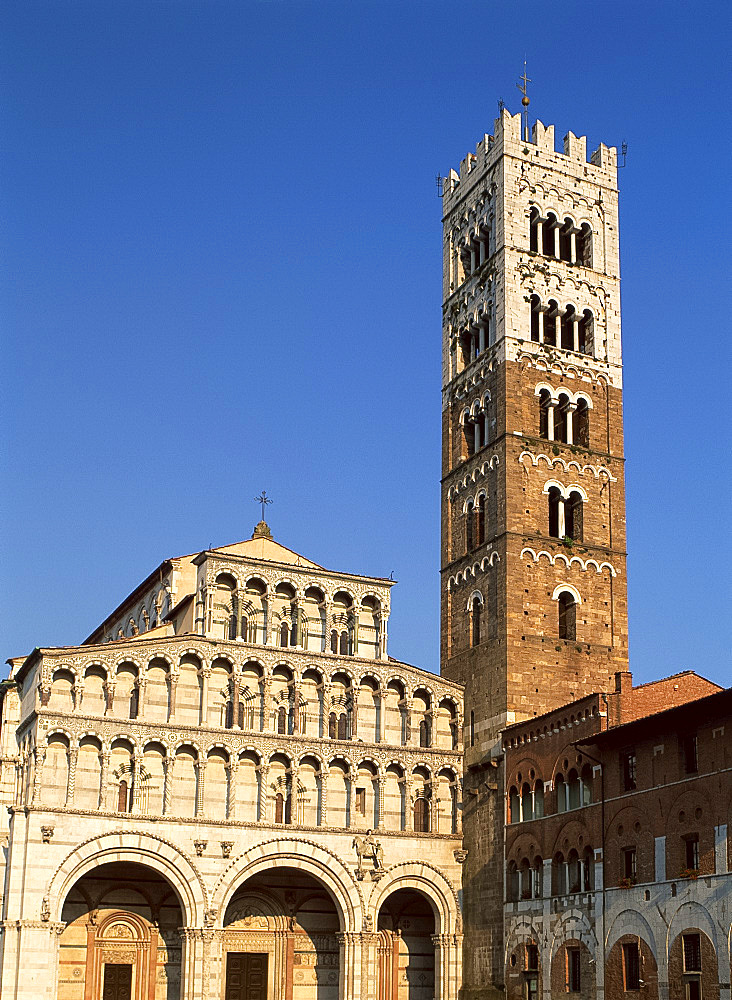 San Martino and the campanile, Lucca, Tuscany, Italy, Europe