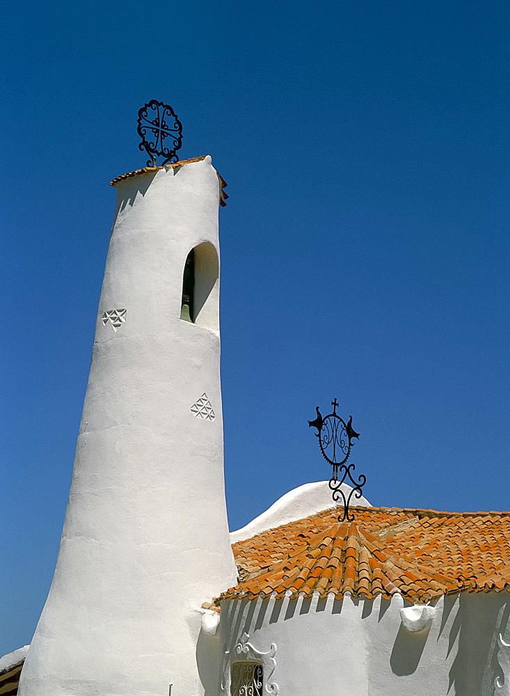 Stella Maris church, Porto Cervo, Costa Smeralda, island of Sardinia, Italy, Mediterranean, Europe